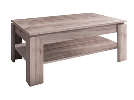 Aboma salontafel met 1 plank donker eiken decor.