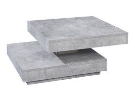 Erano salontafel draaibaar tafelblad en 1 plank beton decor .