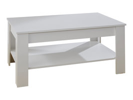 Kamaro salontafel met 1 plank wit.