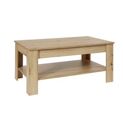 Kamaro salontafel met 1 plank eiken decor.