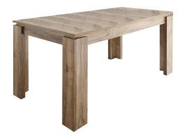Maso eetkamertafel 90x160/200 cm met uittrekbare plaat in de tafel, walnoot decor.