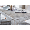 Maso eetkamertafel 90x160/200 cm met uittrekbare plaat in de tafel, pijnboom decor wit.
