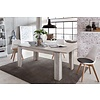 Maso eetkamertafel 90x160/200 cm met uittrekbare plaat in de tafel, eiken decor.