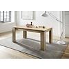 Maso eetkamertafel 90x160/200 cm met uittrekbare plaat in de tafel, oud eiken decor.