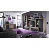 Borak dressoir 2 deuren en 4 lades, walnoot decor, touchwood decor.