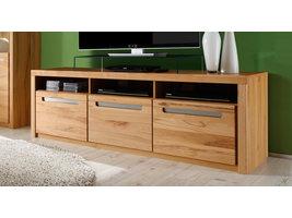 Zimal TV-meubel 3 deuren en 3 planken, beuken decor.