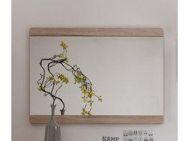 Margit spiegel voor wandmontage, licht eiken decor .