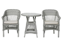 Hvalo cafetafel tuin en 2 stoelen.