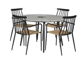 Dance tuintafel en 4 stoelen.