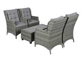 Oris salontafel tuin en 4 stoelen.