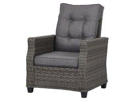 Oris fauteuil tuin incl. kussen, grijs en lichtgrijs .
