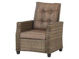 Øram fauteuil tuinmodel 1, incl. kussen, met pomp, bruin en taupe.