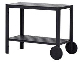 Laust trolley, zwart en zwart.