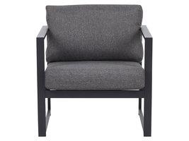Irina fauteuil tuin incl. kussen, zwart en grijs.