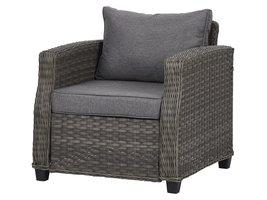 Oris fauteuil tuinmodel 1, incl. kussen, grijs en lichtgrijs.