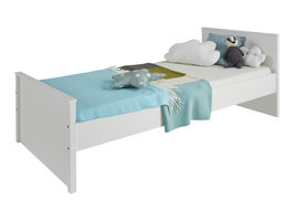 Ory bed 90x200 cm, wit.
