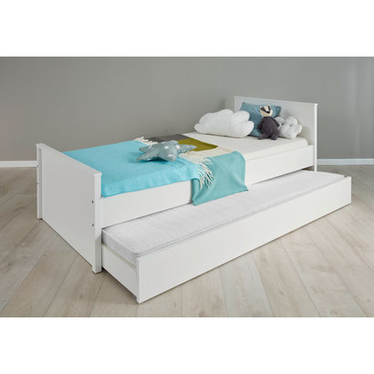 Ory bed accessoire, opberglade met wielen voor onder bed, wit.