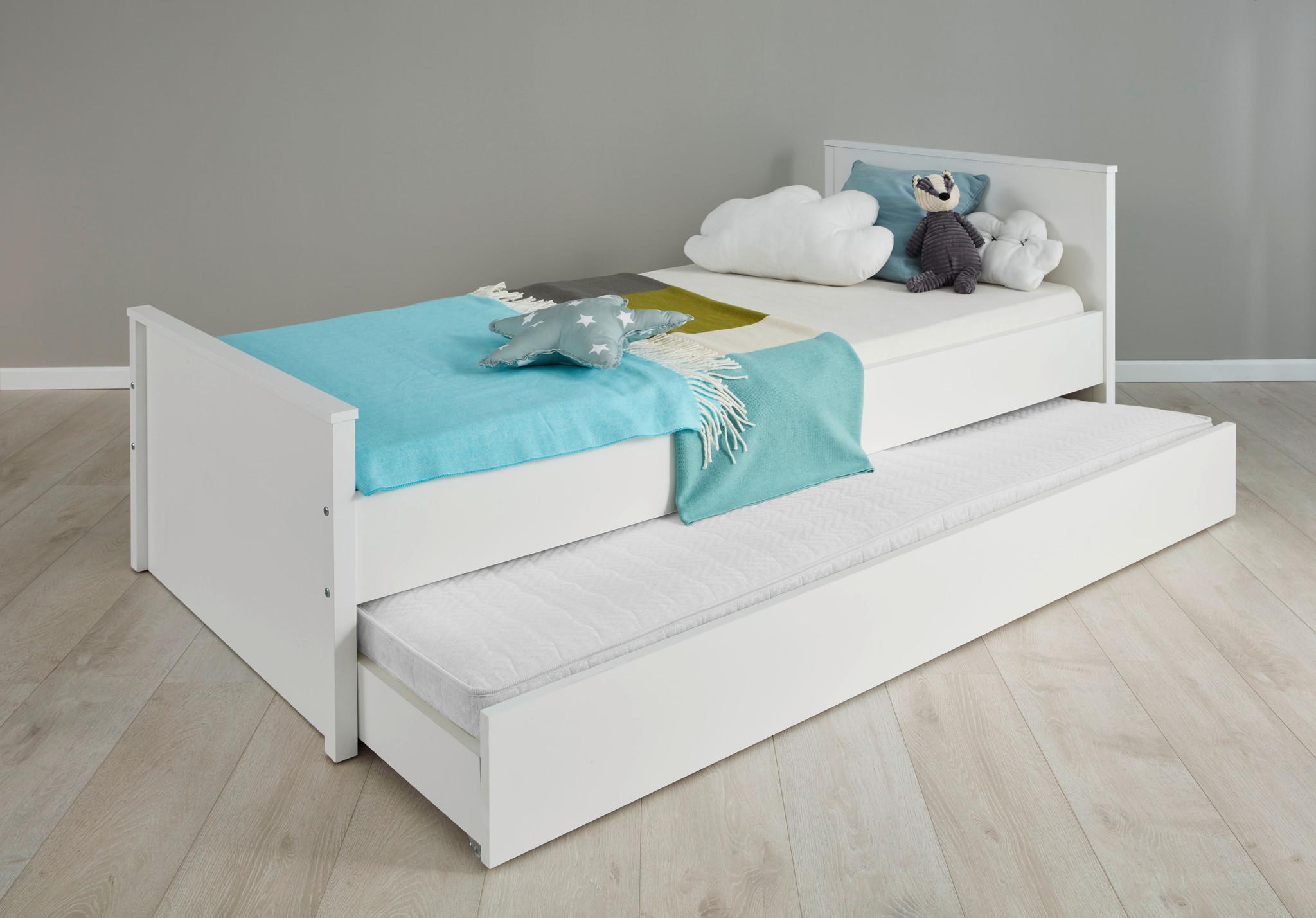 Uitgelezene Ory bed accessoire, opberglade met wielen voor onder bed, wit. WE-54