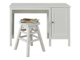 Ory kinder bureau met 1 deur en 1 plank, wit.