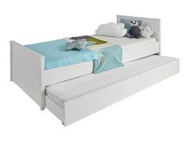 Ory bed 90x200 cm met bedlade, wit.
