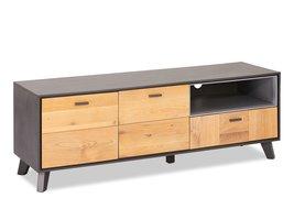 Seth TV-meubel 2 deuren, 1 vak, 1 lade grijs, eiken.