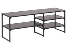 Sea TV-meubel met 3 planken zwart.