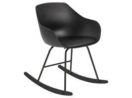 Time fauteuil schommelstoel zwart.