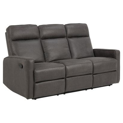 Asuna bank 3 persoons relaxfauteuil grijs.