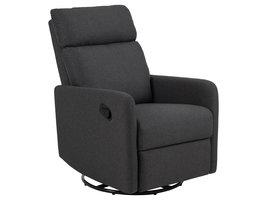 Miks fauteuil fauteuil met schommel functie grijs.