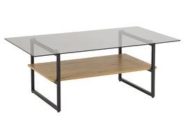 Okla salontafel met 1 plank grijs.