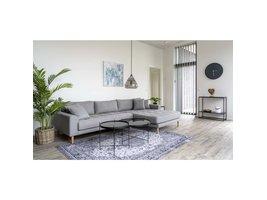 Lido bank met chaise longue rechts grijs.