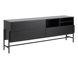 Noma dressoir met 3 lades en 1 plank zwart.