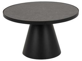 Sun salontafel Ø65 cm zwart.