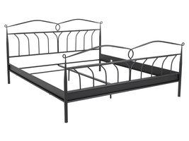 Linax bed metaal 180x200 cm, zwart.