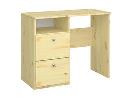 Molly,Oscar Kids bureau met 2 laden en 1 plank heldere lak.