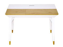 Baris bureau met 2 laden mat wit en wild eikenhouten decor.