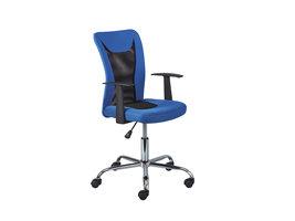 Dons kantoorstoel blauw en zwart.
