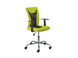 Dons kantoorstoel groen en zwart.