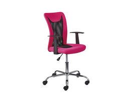 Dons kantoorstoel roze en zwart.