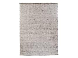 Kadril vloerkleed handgeweven 200x300 cm, laagpolig grijs.
