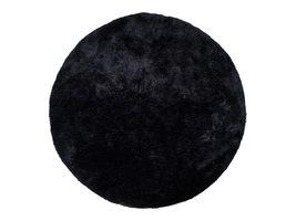 Flagstaf vloerkleed rond Ø120 cm zwart.