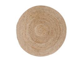 Broom vloerkleed Ø150 cm in jute natuur.
