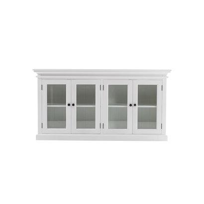 Halifax dressoir met 4 glazen deuren, wit.