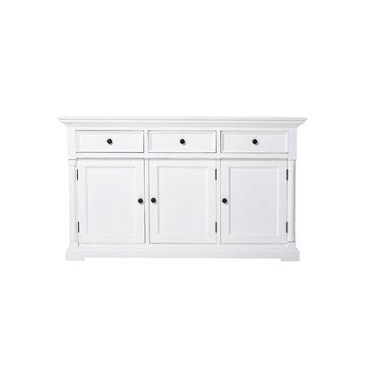 Provence dressoir met 3 deuren en 3 laden, wit.