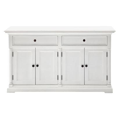 Provence dressoir met 4 deuren en 2 laden, wit.
