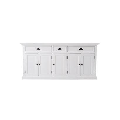 Halifax dressoir met 5 deuren en 3 laden, wit.