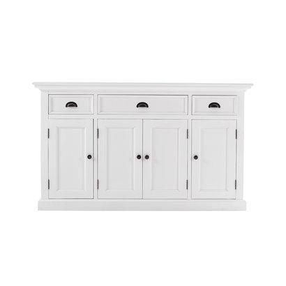 Halifax dressoir met 4 deuren en 3 laden, wit.
