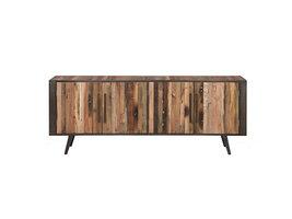 Nordic TV-meubel met 4 deuren, naturel.