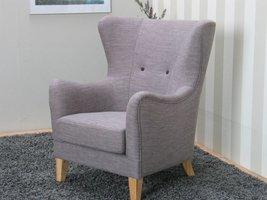 Oorfauteuil retro fauteuil grijs