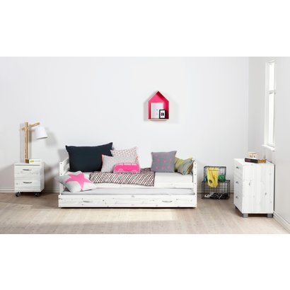 Flexa Basic Hit kinderbed 1-persoonsbed 90*200 cm incl. extra bed, wit.